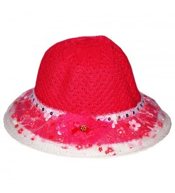Child Kids Girls Baby Lace Node Brim Summer Cap 3 Different Colour Pack Of 3 - CA7735