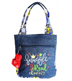 Snuggle Is Real Shoulder Bag - Jeans Blue - 0231