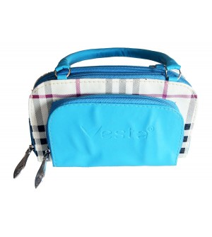 Vesta Hand-held Bag - Aqua Blue - 0253
