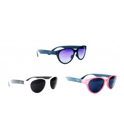 Puma Wayfarer Sunglasses 3 Multi Colour (Pack Of 3 ) - 1024