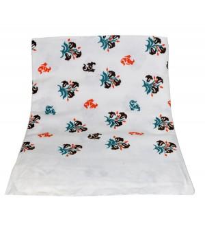 Gunaas White Print Towel Pack Of 2 -1144