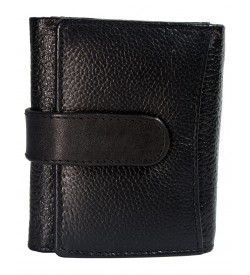 Wensen Men Black Genuine Leather Wallet (6 Card Slots ) -0280