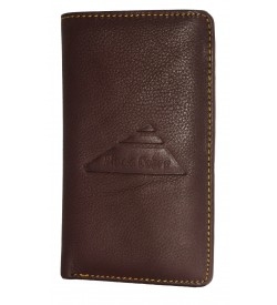 Black Cobra Men D.Brown Genuine Leather Wallet  (13 Card Slots, 2 Sim Slots )
