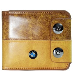 BMW Men Formal Honey Genuine Leather Wallet  (10 Card Slots, 2 Sim Slots ) -0287