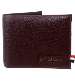 Trends Men Maroon Two Fold Wallet 4 Card Slots - 0562