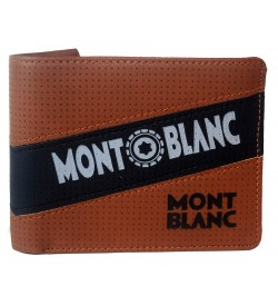 Mont Blanc L.Brown Wallet For Men (5 Card Slots,) -0566