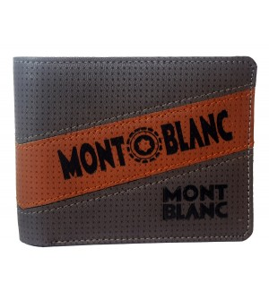 Mont Blanc L.Gray Wallet For Men (5 Card Slots) -0571