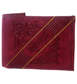 Bovis Men Maroon Two Fold Wallet 4 Card Slots - 0576