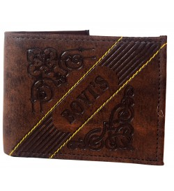 Bovis Men Brown Two Fold Wallet 4 Card Slots - 0580
