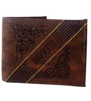 Bovis Men Brown Two Fold Wallet 4 Card Slots - 0580