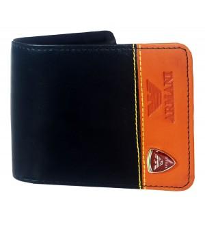 Armani Black Wallet For Men (3 Card Slots ) -0585