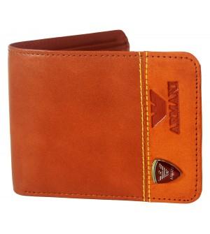 Armani Tan Wallet For Men (3 Card Slots ) -0589