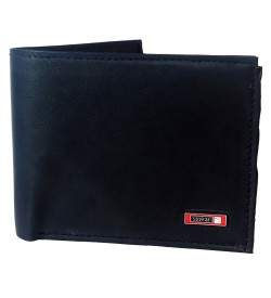 Spykar Men Black Two Fold Wallet 6 Card Slots - 0598