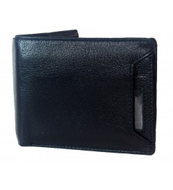 Century Men Black Two Fold Wallet 3 Card Slots - 0602