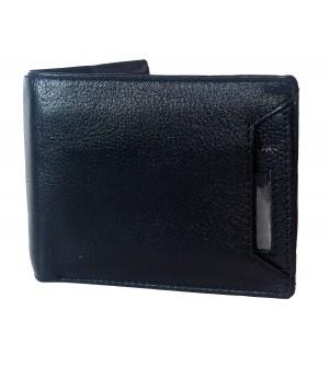 Century Men Black Two Fold Wallet 3 Card Slots - 0602