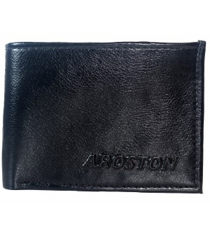 Aroston  Real Men Black Two Fold Wallet 4 Card Slots - 0607