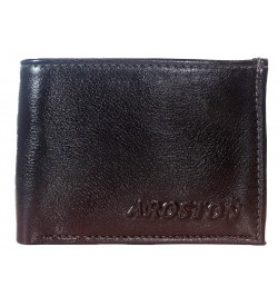 Aroston Real Men D.Brown Two Fold Wallet 4 Card Slots - 0612