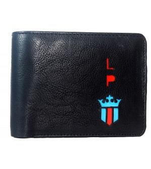 LP Jeans Black Wallet For Men (5 Card Slots,1 Sim 1 Sd Card Slots ) -0622