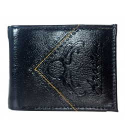 Aroston Men Black Two Fold Wallet 5 Card Slots - 0627