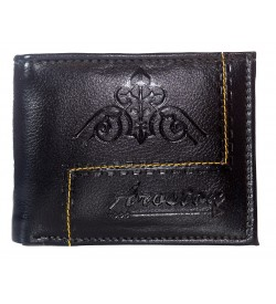 Aroston Men Brown Two Fold Wallet 5 Card Slots - 0632