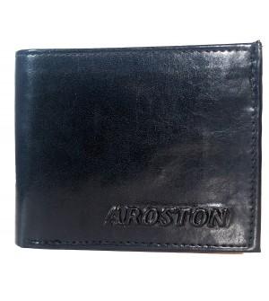 Aroston Real Men Black Two Fold Wallet 4 Card Slots - 0641
