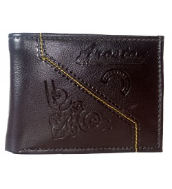 Aroston Men Brown Two Fold Wallet 5 Card Slots - 0646