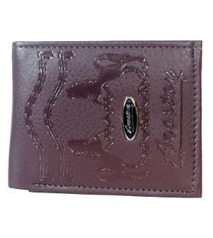 Aroston Men L.Maroon Two Fold Wallet 5 Card Slots - 0651