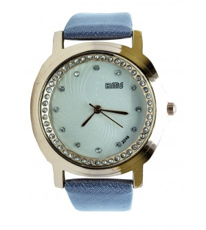 KMS Stone Analog Watch - For Women (Ash)
