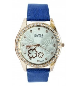 KMS Stone Analog Watch - For Women (Blue)