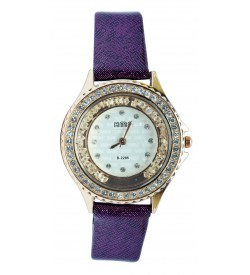 KMS Stone Analog Watch - For Women (Purple)