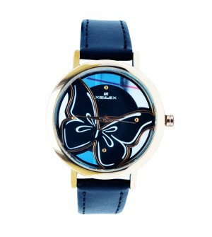 XENLEX Butterfly Stylish Analog Watch - For Women ( Gold Black )