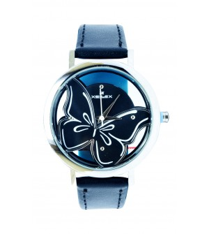 XENLEX Butterfly Stylish Analog Watch - For Women ( Silver,Black)
