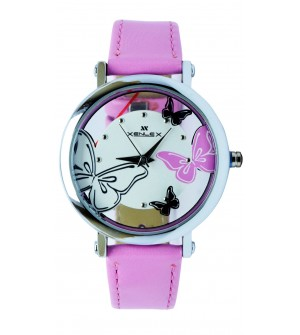 XENLEX Butterfly Stylish Analog Watch - For Women ( Pink )