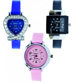 GLORY Buy One Get Two Free Designer Women Watch