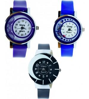 GLORY Buy One Get Two Free Designer Women Watch