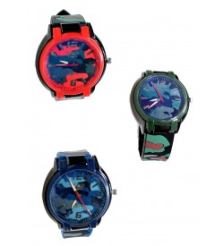Force Time Multi Colour Watch For Boys.Mens - 8384 - Pack Of 3