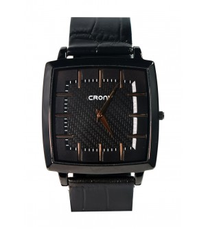 Crony Harmony Black Gunuine Leather Strap Watch For Mens - 0348