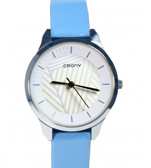 Crony Harmony Sky Bkue  Gunuine Leather Strap Watch For Girls - 0355