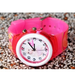Devlr's Barbie Girl Light Watch For Kids Girls (Pink) -0827