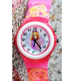 Devlr's Barbie Girl Light Watch For Kids Girls (Pink) -0840