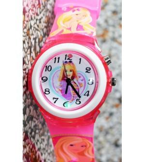 Devlr's Barbie Girl Light Watch For Kids Girls (Pink) -0840