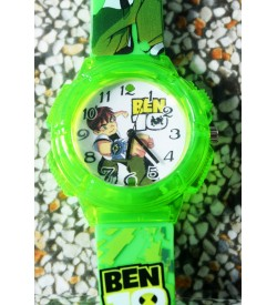 Devlr's Ben 10 Light Watch For Kids Boys (Green) -0853