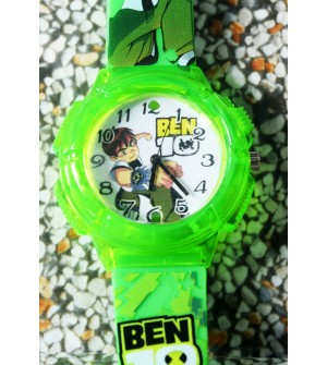 Devlr's Ben 10 Light Watch For Kids Boys (Green) -0853