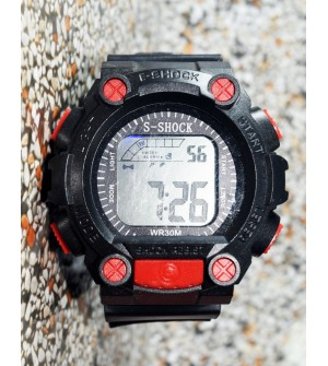 E-SHOCK Black Red Digital Watch for Kids & Boys - 0862