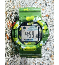 E-SHOCK Digital Watch for Kids & Boys (Green) - 0888