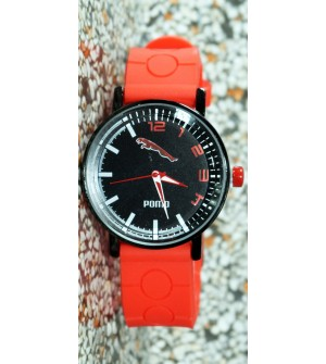 Pomo Analog Watch For Boys (Orange) - 0901