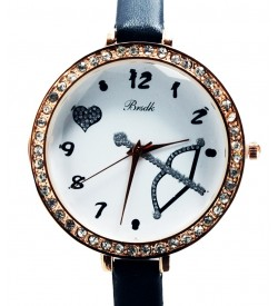 Brsdk Heart Stone Watch For Women-Girls (Black Pack Of 2) - 1069