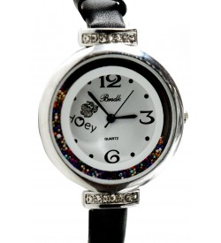 Brsdk Moving Beeds Watch For Women-Girls (Blackgold-Silver Pack Of 2) - 1073
