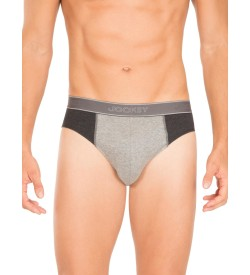 Jockey Black Melange & Grey Melange Fusion Brief