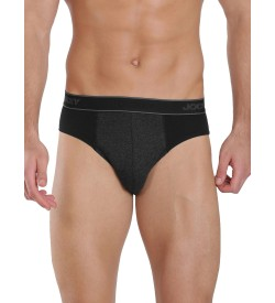 Jockey Black & Black Melange Fusion Brief Pack of 2